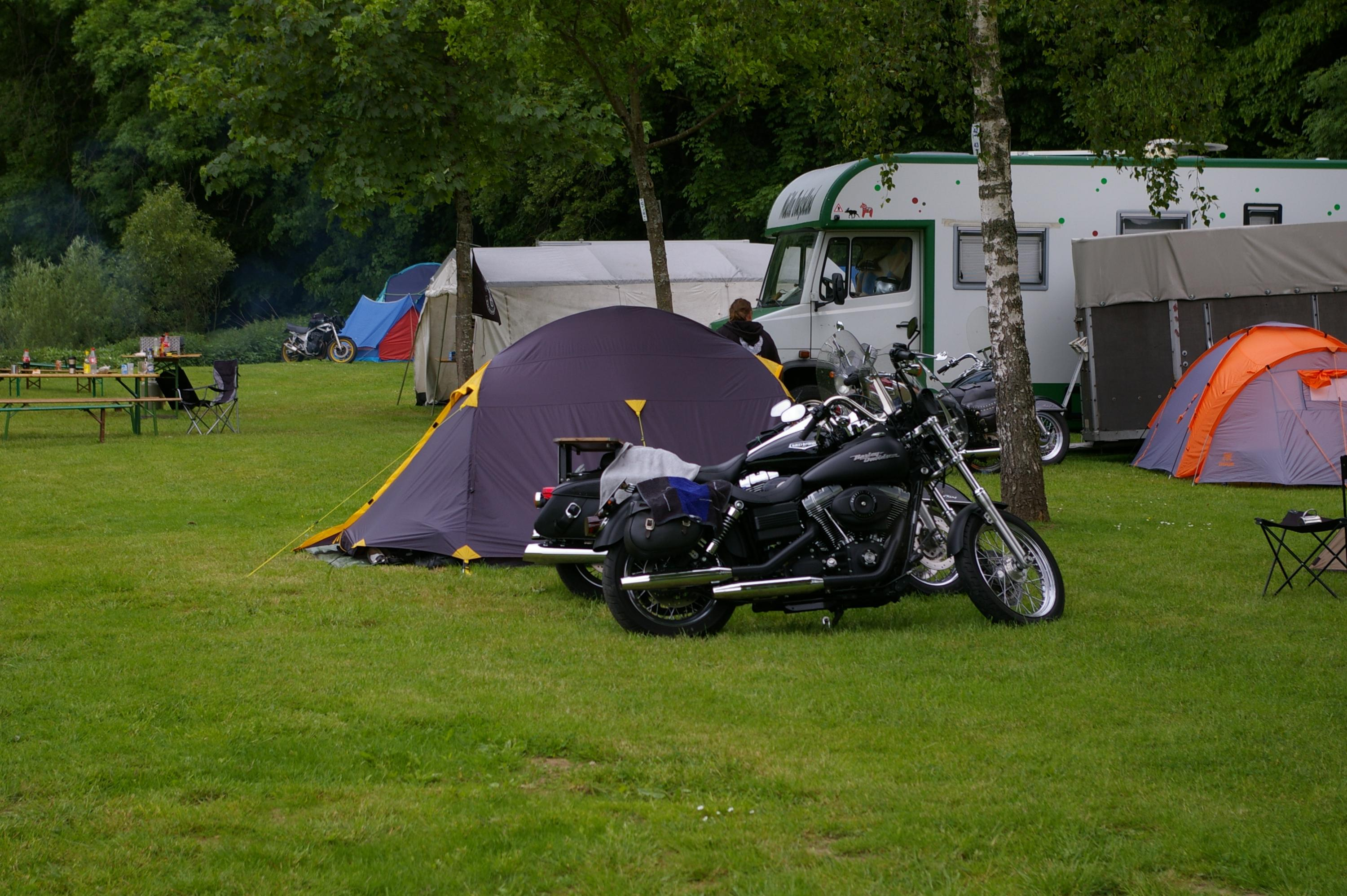 Le camping Saint Remacle, ami des motards.